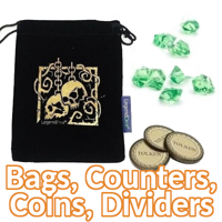Bags, Counters, Coins, Dividers & Others