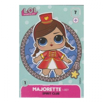 L.O.L. Surprise! Single Card : 007 MAJORETTE (SPIRIT CLUB)