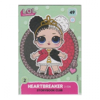 L.O.L. Surprise! Single Card : 049 HEARTBREAKER (STORYBOOK CLUB)