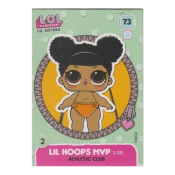 L.O.L. Surprise! Single Card : 073 LIL HOOPS MVP (ATHLETIC CLUB)