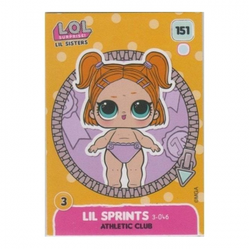 L.O.L. Surprise! Single Card : 151 LIL SPRINTS (ATHLETIC CLUB)
