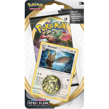 Pokemon Checklane Blister Pack (1 Pack with holo) : Noctowl - Sword and Shield Rebel Clash