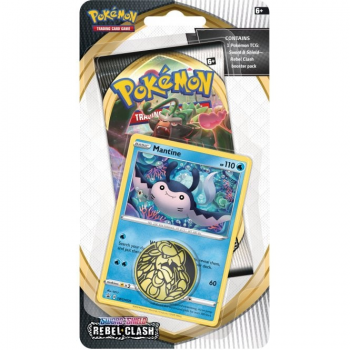 Pokemon Checklane Blister Pack (1 Pack with holo) : Mantine - Sword and Shield Rebel Clash