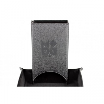 Leather Folding Dice Tower Black