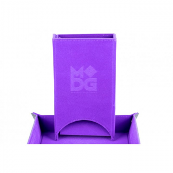 Velvet Folding Dice Tower Purple