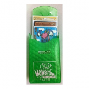 Monster Deck Box for Trading Cards - Mistery Green