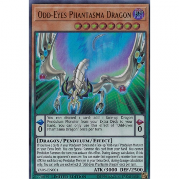 Yu-Gi-Oh! Promo Card YA05-EN001 - Odd-Eyes Phantasma Dragon - (Ultra Rare Limited Edition)
