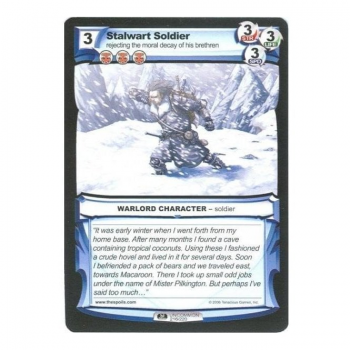 The Spoils card 1st Edition Part I (WARLORD) - Stalwart Soldier