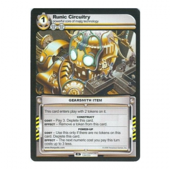 The Spoils card 1st Edition Part I (GEARSMITH) - Runic Circuitry
