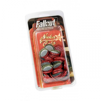 Fallout: Wasteland Warfare - Nuka Cola Caps and Sticker Set