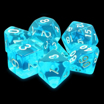 Legend Dice Dice Set : 16mm Gem Azure Blue