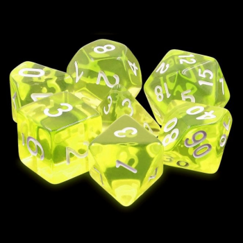 Legend Dice Dice Set : 16mm Gem Sun Yellow