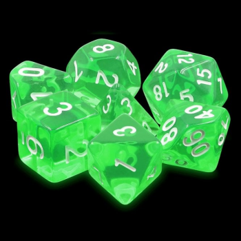 Legend Dice Dice Set : 16mm Gem Emerald Green