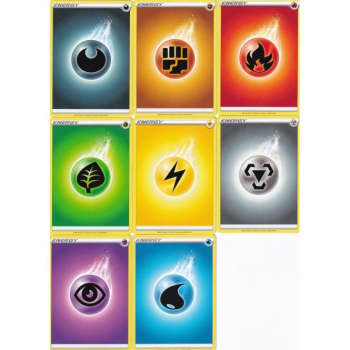 Pokemon: 80 Sword & Shield Basic Energy Bundle (10 of Each Basic Energy)
