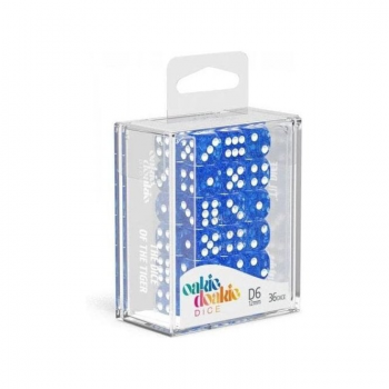 Oakie Doakie Dice Set D6 (12 mm) Speckled - Blue (36)