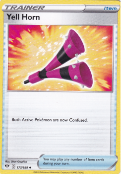 Pokemon Single Card Sword and Shield - Darkness Ablaze - 173/189 : Yell Horn