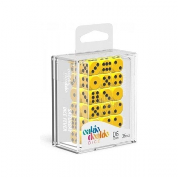 Oakie Doakie Dice Set D6 (12 mm) Solid - Yellow (36)