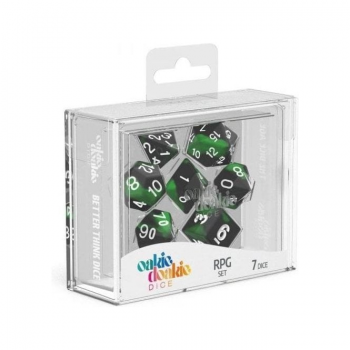 Oakie Doakie Dice Set RPG Glow in the Dark - Biohazard (7)