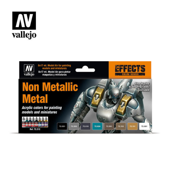 Acrylicos Vallejo Game Color Set - Non Metallic Metal (x8)