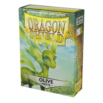Dragon Shield Standard Size Matte Sleeves - Olive (60 Sleeves)