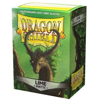 Dragon Shield Standard Size Matte Sleeves - Lime (100 Sleeves)