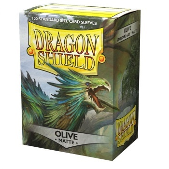 Dragon Shield Standard Size Matte Sleeves - Olive (100 Sleeves)