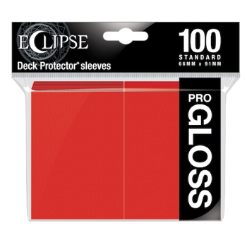 Ultra Pro Eclipse Gloss Standard Sleeves: - Apple Red (100 Sleeves)