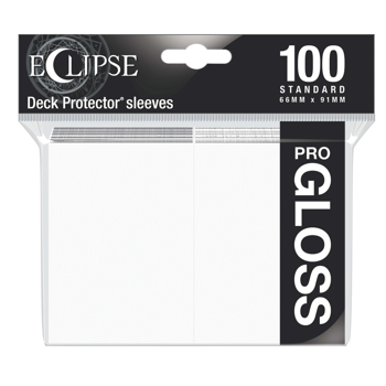Ultra Pro Eclipse Gloss Standard Sleeves: - Arctic White (100 Sleeves)