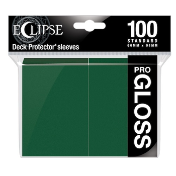 Ultra Pro Eclipse Gloss Standard Sleeves: - Forest Green (100 Sleeves)