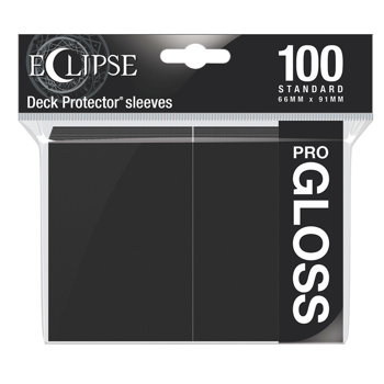 Ultra Pro Eclipse Gloss Standard Sleeves: - Jet Black (100 Sleeves)