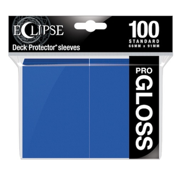 Ultra Pro Eclipse Gloss Standard Sleeves: - Pacific Blue (100 Sleeves)