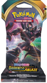 Pokemon Blister Booster Pack (10 Cards) - Grimsnarl - Sword and Shield Darkness Ablaze