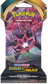 Pokemon Blister Booster Pack (10 Cards) - Eternatus - Sword and Shield Darkness Ablaze