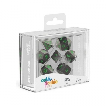 Oakie Doakie Dice Set RPG Metal Dice - Matrix (7)