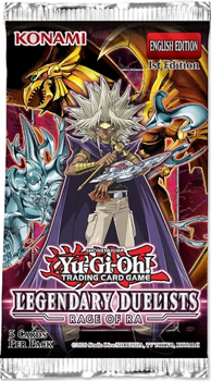 Yu-Gi-Oh! Sealed Booster Pack (5 Cards) - Rage of Ra Legendary Duelists (1st Edition)
