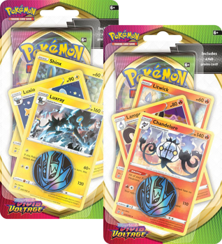 Pokemon Sword and Shield Vivid Voltage - Premium Checklane Blister Set of 2