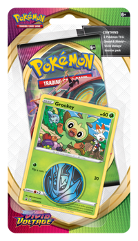 Pokemon Checklane Blister Pack (1 Pack with holo) : Grookey - Sword and Shield Vivid Voltage