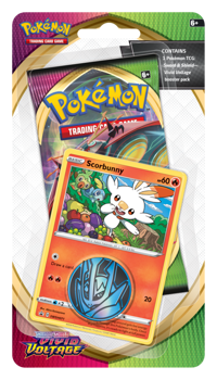 Pokemon Checklane Blister Pack (1 Pack with holo) : Scorbunny - Sword and Shield Vivid Voltage