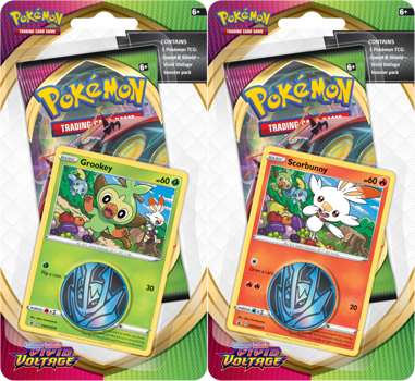 Pokemon Checklane Blister Pack (1 Pack with holo) : Set of 2 - Sword and Shield Vivid Voltage