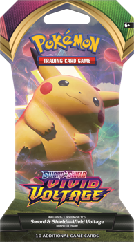 Pokemon Sword & Shield SS4 Vivid Voltage Blister Pack (Pikachu art)