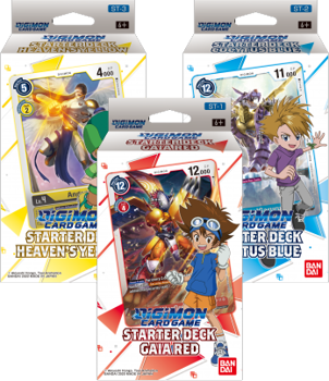 Digimon Starter Deck Set of 3 (ST1, ST2 & ST3)