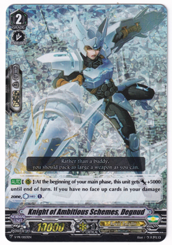 Cardfight!! Vanguard Promotional Card : V-PR/0153 Knight of Grand Scheme, Degnuz (Foil)