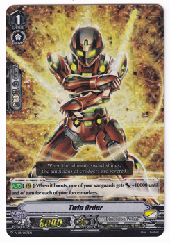 Cardfight!! Vanguard Promotional Card : V-PR/0157 Twin Order (Foil)