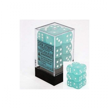 Chessex D6 Set of 12: Teal Frosted