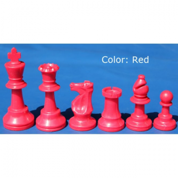 Club and Tournament Standard Chess Pieces - 1/2 set Red