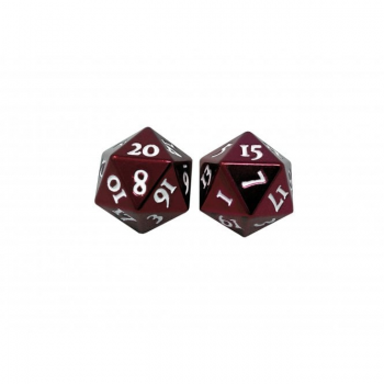 Ultra Pro D20 Heavy Metal Dice: Red