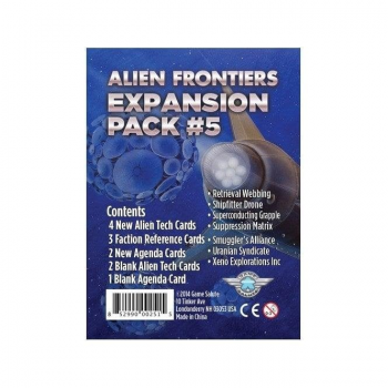 Alien Frontiers : Expansion Pack #5