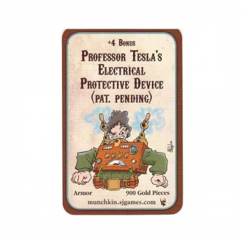 Munchkin Promotional Card : Professor Tesla's Electrical Protective Device (Pat. Pending)