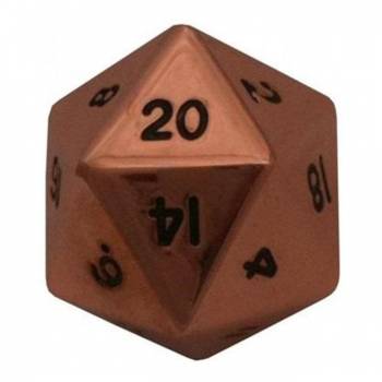 MDG Mega D20 Metallic Dice : 35mm Copper