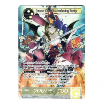 Force of Will TCG - Promo Card : SOUVENIR001 Jeanne d'Arc the Awakening Purity (FOIL)